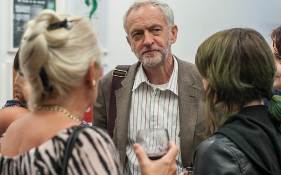 Labour leadership candidate Jeremy Corbyn attends the Fabian Women's Society annual summer gathering at the Fabian Societies offices in London Credit: Euan Cherry/Photoshot