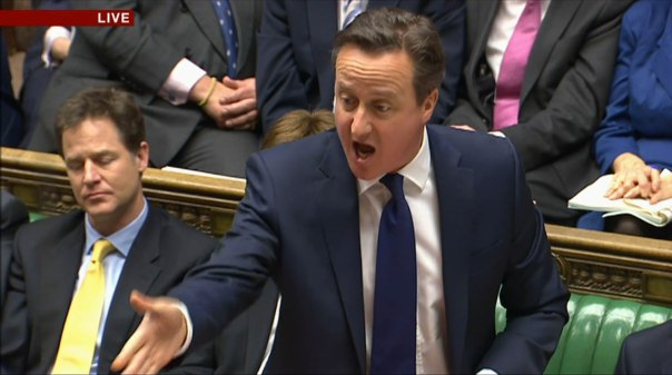 ****Ruckas Videograbs**** (01322) 861777 *IMPORTANT* Please credit the BBC for this picture. 18/03/15 Prime Minister's Questions Grabs of PM David Cameron during this afternoon's PMQ's in the House of Commons (18th March 2015) Office (UK) : 01322 861777 Mobile (UK) : 07742 164 106 **IMPORTANT - PLEASE READ** The video grabs supplied by Ruckas Pictures always remain the copyright of the programme makers, we provide a service to purely capture and supply the images to the client, securing the copyright of the images will always remain the responsibility of the publisher at all times. Standard terms, conditions & minimum fees apply to our videograbs unless varied by agreement prior to publication.