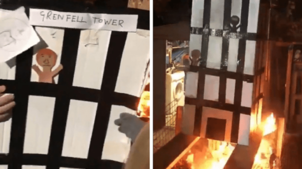 grenfell-tower-group-burns-model-on-bonfire